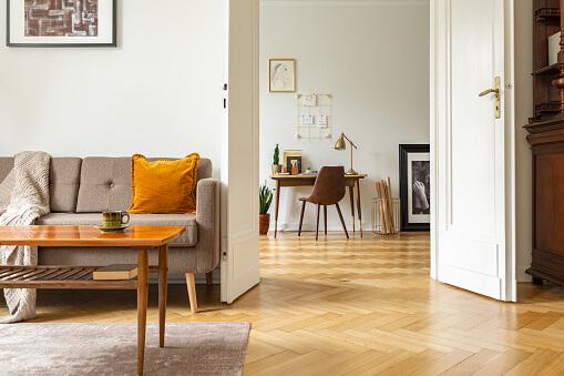 Herringbone Hardwood Floor Patter