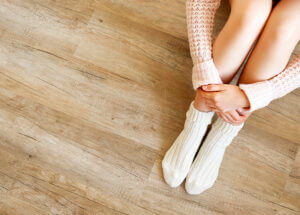 Keep hardwood floors clean feature