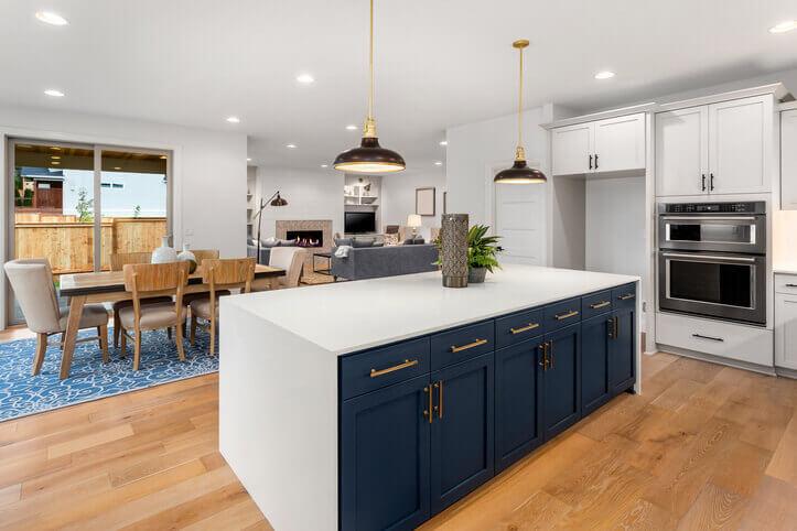 hardwood flooring in the kitchen light shade